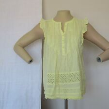Pre-owned women's Tommy Hilfiger Cotton Eyelet Flutter Sleeves Top Size M