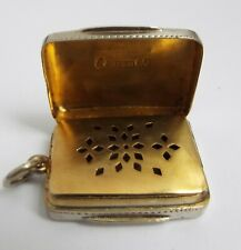 LOVELY EARLY ENGLISH ANTIQUE GEORGIAN c1800 STERLING SILVER VINAIGRETTE BOX