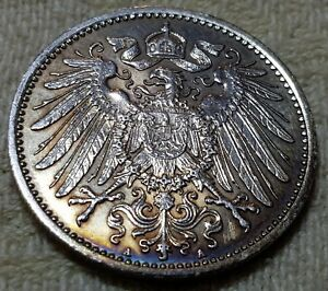 1891-1915 WILHELM II 1 Mark German Empire Silver Coin Eagle Various Mints