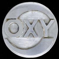Oxy CH Libya Handmade Drilling Oilfield Terminal Petroleum Vintage Belt Buckle