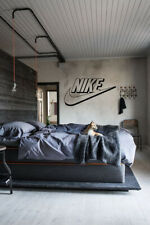 Nike Swoosh 3D Illusion Wall Decal Art Sports Basketball Decor Sticker Brands