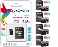 ADATA MICRO SD 16GB CLASS 10 50MB/s HD VIDEO MEMORY CARD For Samsung Tablet Lot4