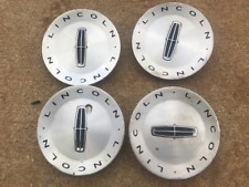 Lincoln Wheel CENTER CAPS Silver and Black Finish 2L74-1A096-AD SET OF 4