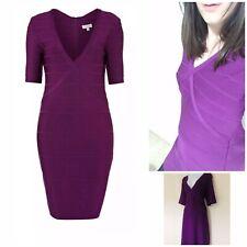 Women's Designer Dress Size 18 Purple Smart Party Stretchy Bandage By Untold