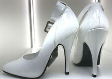 13 cm Sexy white fetish sky platform pumps high heels us7 37 straps