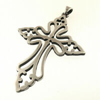 James Avery St Cecilia Cross Pendant Large Retired Sterling Silver Cecelia 925