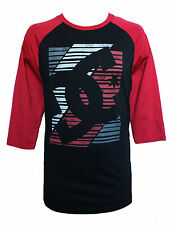 NEW DC SHOES MENS GUYS GRAPHIC T SHIRT BASEBALL RAGLAN BLOUSE CREW TEE TOP SZ M