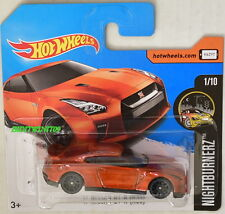HOT WHEELS 2017 NIGHTBURNERZ '17 NISSAN GT-R (R35) #1/10 SHORT CARD