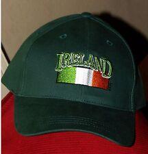 Ireland Flag Erin go Bragh Baseball Style Hat Cap Size Adjustable