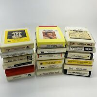 Mixed Lot of 18 Music 8-Track Cassette Tapes Vintage Artists from 50's & 60's