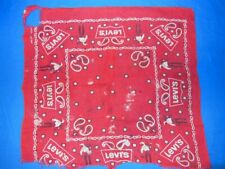 vintage 50s Levis Western Wear Color Wash Fast Bandana Red White Cowboy Ranch