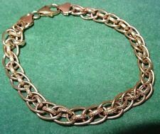 Vintage Solid 9ct Gold Rollerball Chain Bracelet Gift Boxed 6g not scrap