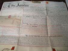 GRAN BRETAGNA ANTICA PERGAMENA CON MAPPA CATASTALE ANNO 1897 (22)