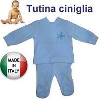 Tutina ciniglia neonato stella produzione italiana certificata misura a scelta