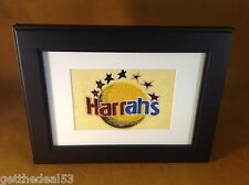 HARRAH'S CASINO -  EMBROIDERED SEWOUT  LOGO - FRAMED