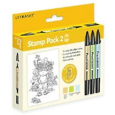 Letraset PROMARKERS Stamp Pack Set 2 PMSP2 Cool Aqua Lime Green Pastel Yellow