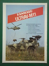 11/1984 PUB PANHARD BLINDE ULTRAV-M11 FAR SUPER PUMA ALAT ORIGINAL FRENCH AD