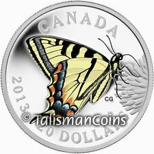 2013 Butterflies of Canada #1 Tiger Swallowtail $20 1 Troy Oz Pure Silver in OGP