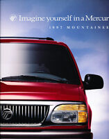 1997 Mercury Mountaineer 16-page Ford Car Dealer Original Sales Brochure Catalog