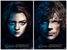 Game of Thrones Arya Tyrion 2 Individual Posters! Dwarf Direwolf New Never Hung
