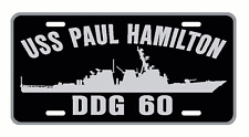 USS PAUL HAMILTON DDG 60 License Plate U S Navy USN Military 001