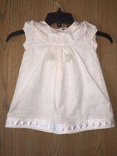 Fluerisse,  Julia Dress,  French Gold Dots Cream Size 18-24 months