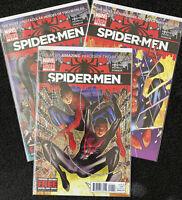 """Spider-Man - Miles Morales & Peter Parker In Marvel Comics """"Spider-Men"""" 1-3"""