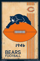 CHICAGO BEARS - RETRO LOGO POSTER - 22x34 NFL FOOTBALL VINTAGE 13168