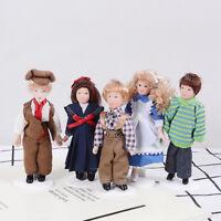 1:12 Dollhouse miniature porcelain dolls victorian figure dollhouse collectionTP