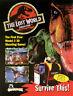 Sega The LOST WORLD Jurassic Park 1997 NOS Video Arcade Game Flyer Sci-Fi Art