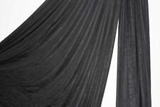 108 inches wide Black Aerial Silk