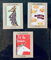Hallmark Christmas Good Mail Cards NWT 12/Pkg Unicorn or Giraffe or Taco Holiday