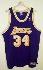 RARE VTG Shaquille ONeal Los Angeles Lakers Nike Authentic Jersey Mens 48/XL NBA