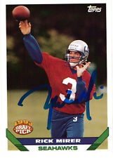 Rick Mirer Seattle Seahawks QB SIGNED autographed card Notre Dame 1993 Topps
