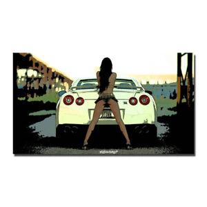 Nissan Vintage Skyline Super Car Racing Car Silk Canvas Poster 13x24 24x43