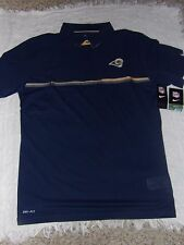 NFL LA Los Angeles Rams Mens NFL Dri Fit On Field Polo Shirt Size Large NWT