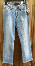 ROCKIES JR./WOMEN'S SZ 2 JEWEL EMBROIDERED JEANS STRCH LOW RISE NWT MSRP $59.99