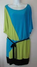 Scarlett*Woman*Lime Green/Turquoise/Black Dress*Plus Size 22W*Tank under Top