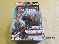 """MARVEL UNIVERSE MISTER SINISTER AND GAMBIT RARE 3.75"""" X-MEN COMIC PACK"""