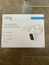 NEW RING FLOODLIGHT CAM Camera 1080p HD Security Cam Two-Way Talk Siren WHITE