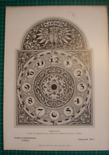 antique print clock face design 1886 Zifferblatt Alois Müller München stich
