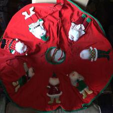 Christmas Tree Skirt 3D Santa Clauses