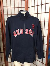 """Victoria's Secret PINK MLB  """"Stealing Bases With The Red Sox"""" Half Zip Crew~ Med"""