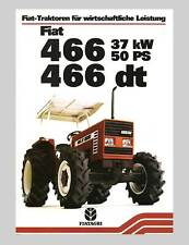 Fiat 466 466 dt Traktor Schlepper Original 1982