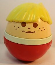 Vintage Little Tikes Chunky People Weebles Wobble Musical Chime Ball