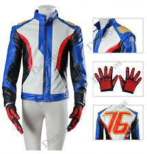 US Size OW Over Watch Soldier 76 Cosplay Jacket / Gloves Cosplay Costume