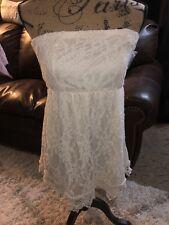 Rue 21 Size XL Ivory Lace Strapless Tunic Top Dress EUC