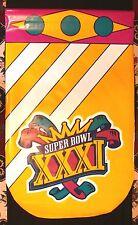1997 SUPER BOWL XXXI PACKERS V. PATRIOTS 3x5 FT. SUPERDOME VINYL PLASTIC BANNER