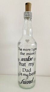 Light Up Bottle Gift For Dad, Birthday, Fathers day, My dad is my best friend