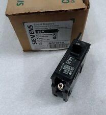BQ1B015L Siemens Circuit Breaker 1 Pole 15 Amp 120/240V NEW